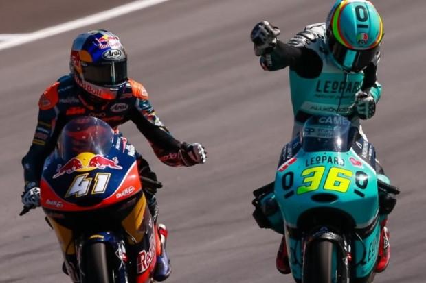Johan Mir comemora sua primeira vitória na Moto3™