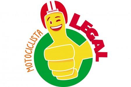 Logo oficial da Campanha Motociclista Legal. Objetivo da Honda é arrecadar três toneladas de doações até o final do ano