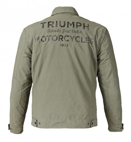 Jaqueta de Trabalho da Triumph busca equilíbrio entre pilotagem e uso casual. Conta com forros removíveis