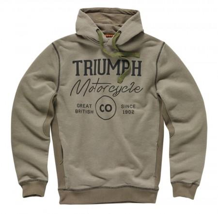 O Moletom com Capuz Restore é mais um dos itens de vestuário da Triumph. Peças estão à venda em todas as concessionárias do Brasil