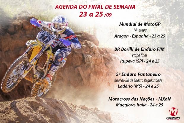 Confira as principais competições de motos deste final de semana