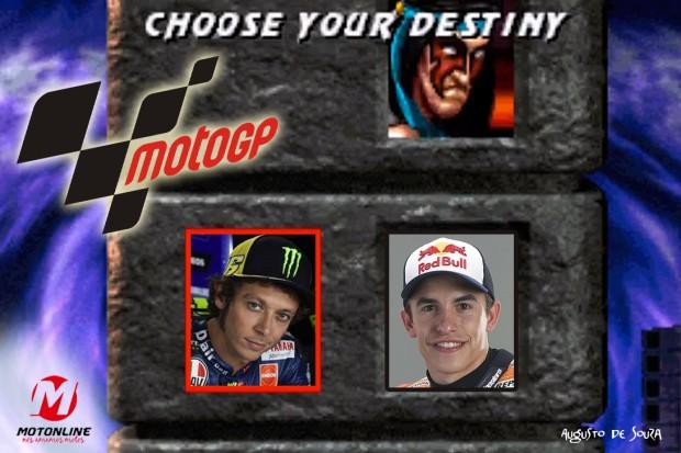 Até algumas voltas atrás Valentino Rossi tinha chances matemáticas de levar a taça de Márquez, desde que este falhasse. Não aconteceu