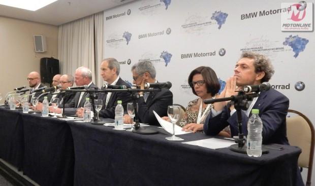 Presença de toda a diretoria da BMW Motorrad reforça o discurso de total confiança na recuperação da economia e na retomada do crescimento do mercado brasileiro de motocicletas