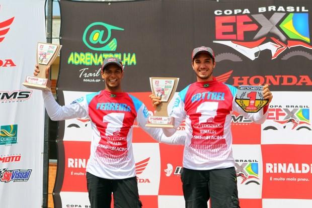 Rômulo Bottrel e Júlio César Ferreira, campeão e vice na categoria Elite da Copa EFX Brasil