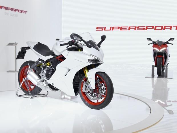 Ducati aproveitou o Salão de Colonia para apresentar a SuperSport, com 900cc, 130cv e o motor clássico de dois cilindros