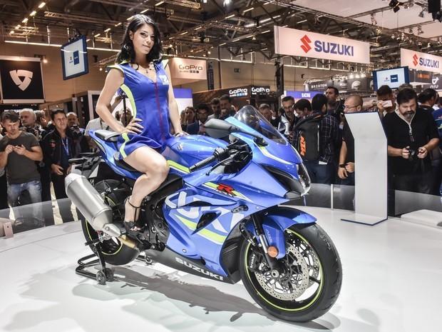 Segundo a Suzuki, a nova GSX-R tem mais do que apenas o visual inspirado na MotoGP. Talvez isto explique seus 202cv...