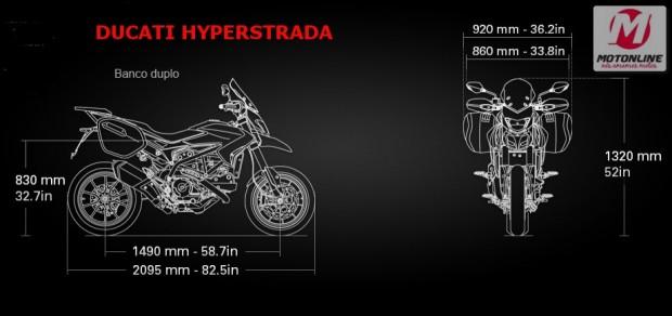 A Hyperstrada é pequena, leve e nem por isso despojada de equipamentos, a ergonomia é excelente e a geometria perfeita para sua proposta