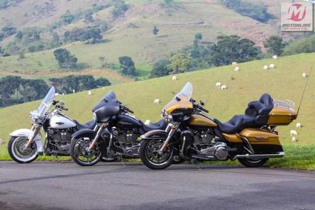 Três modelos Touring