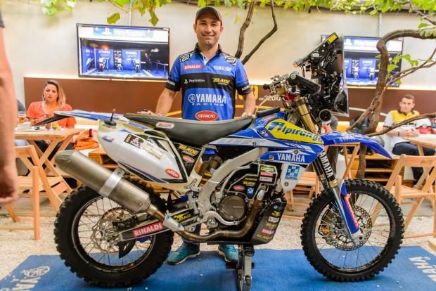 Ricardo e sua WR 450F: o objetivo é terminar
