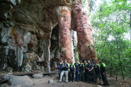Parque Natural Municipal Tempo dos Pilares é um dos muitos locais a se conhecer na região