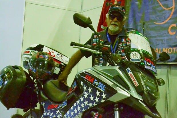 Dentre as atrações do evento, a presença do motociclista Augusto BR. Aos 74 anos, ele quer rodar 50 mil quilômetros na expedição Usa Total