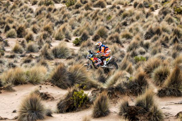Sunderland chegou em terceiro na sétima etapa, o que o manteve na liderança geral do Dakar 2017 (Foto: Florent Gooden)