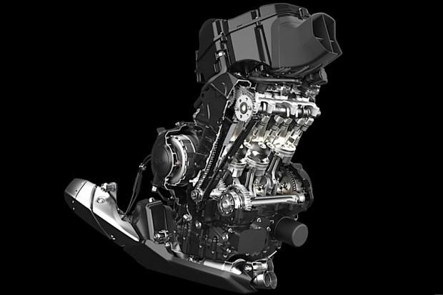 Para aposentar o velho quatro cilindros de 600cc, em uso desde 2010, o tricilíndrico britânico de 765cc