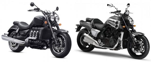 Triumph Rocket e Yamaha VMax, concorrentes mais próximas