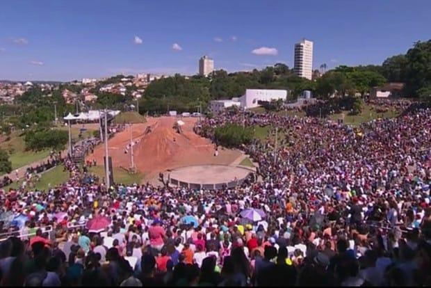 Evento em Atibaia reuniu cerca de 15 mil pessoas no domingo. Foto: Reprodução TV Globo