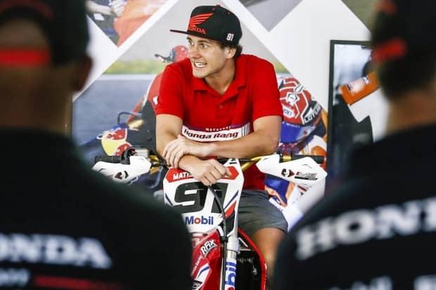 A novidade Matiss Karro (foto), Paulo Alberto e Hector Assunção são os pilotos da Honda no Goiano de Motocross