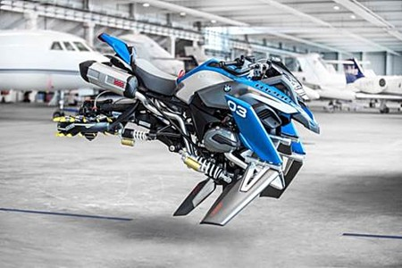 Conceito Hover Ride une elementos clássicos da BMW Motorrad, como o motor boxer, com tecnologia futurista