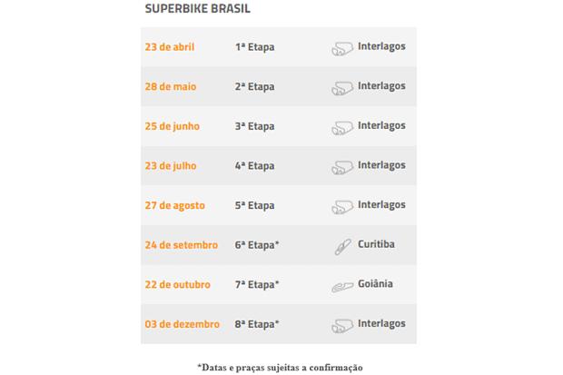 Calendário 2017 terá oito etapas. Primeira prova será em Interlagos, no dia 23 de abril