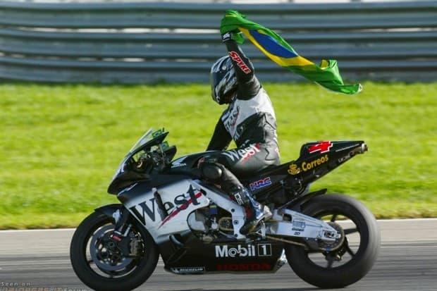 Barros em uma de suas vitórias pela MotoGP