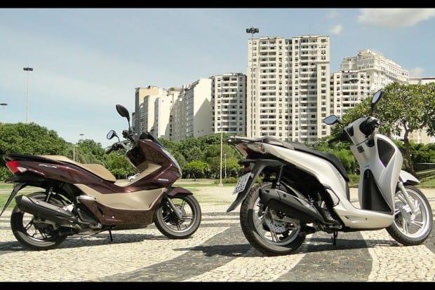 Dois scooters diferentes, para públicos distintos que têm algo em comum: encarar selvas de pedra