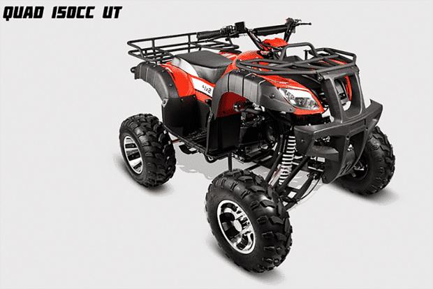 Quad 150cc UT é um utilitário que conta com bagageiros na traseira e dianteira