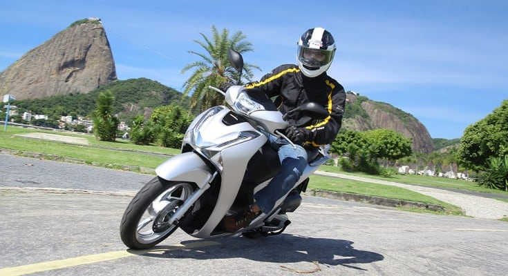 Silenciosa, o scooter é gostoso de pilotar