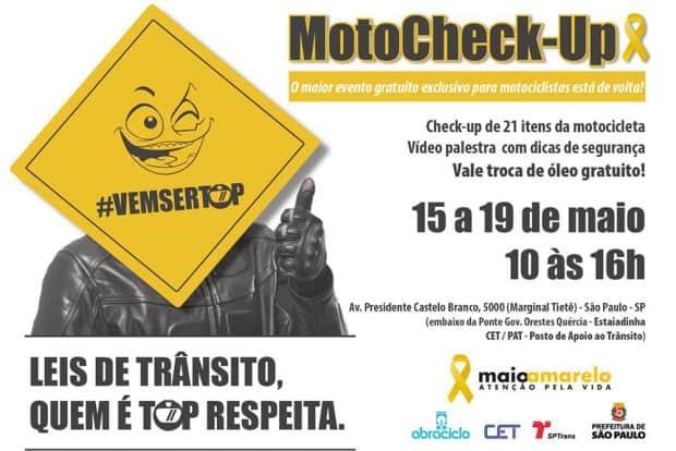 Vigésima edição do Moto Check-up acontecerá em São Paulo, na próxima semana