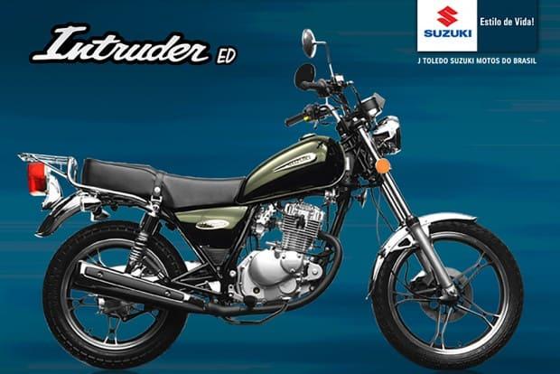 Suzuki Intruder 125 iniciou sua produção no Brasil em 2002, com itens de série raros para a época e estilo custom