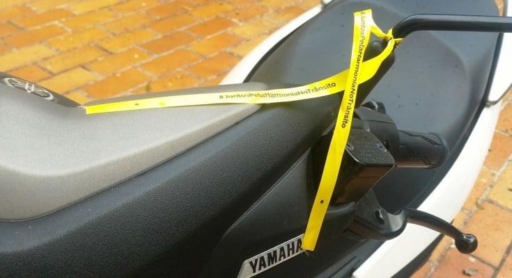 Fita amarela na moto: engajamento