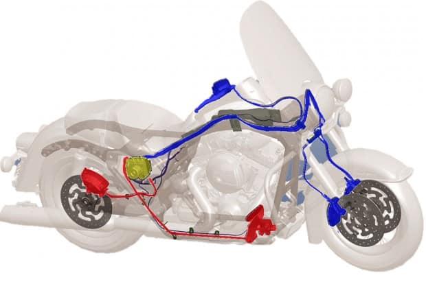 Sistema de freios da Harley-Davidson Road King Classic