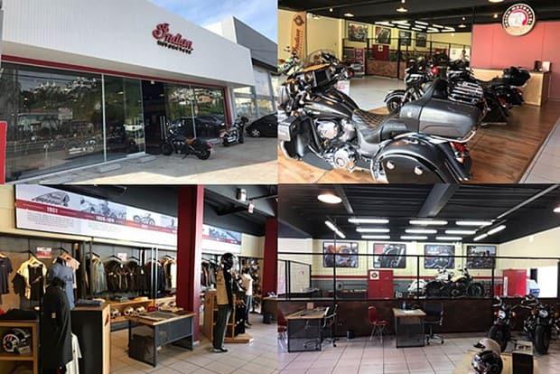 Nova concessionária da Indian em Santa Catarina tem boutique com roupas e acessórios, oficina e box de lavagem e embelezamento de motocicletas