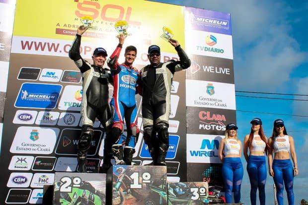 José Duarte, de 19 anos, venceu a abertura da Copa Sol, o Nordestino de Motovelocidade. Em segundo chegou Tiago Cesar, e em terceiro, Marcelo Pará