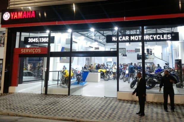Fachada da nova concessionária Nacar Motorcycles em São Paulo