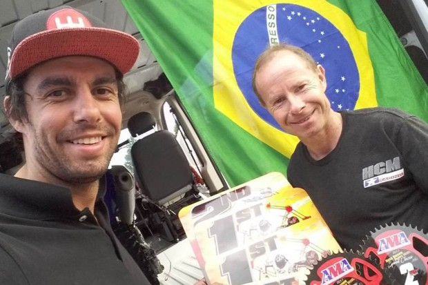 Rafael Paschoalin foi o primeiro Brasileiro a fazer parte de um gate de uma prova do AMA Flat Track