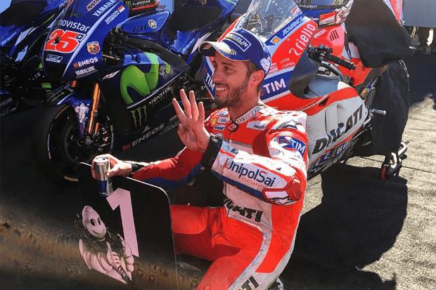 Com 4 vitórias e 183 pontos na temporada, Dovizioso é só sorrisos