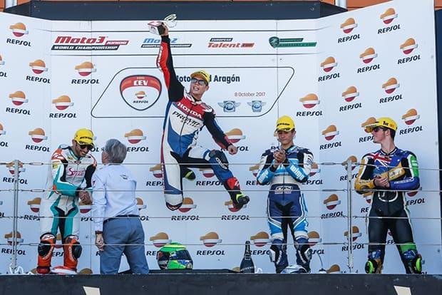 No último final de semana Granado conquistou resultado que lhe deixa com uma mão no título do Europeu de Moto2. Brasileiro faturou uma vitória e um terceiro lugar em Aragão, e agora soma 201 pontos, contra 185 do segundo colocado