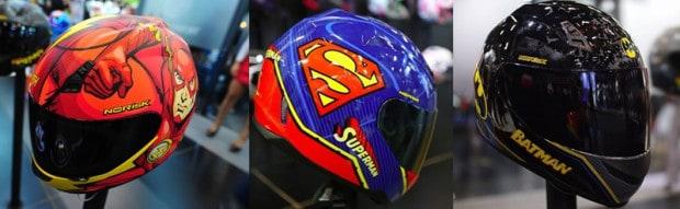 NORISK já lançou capacetes do Batman e, agora, Mulher Maravilha. Em breve, Flash e Superman também terão suas versões do modelo Stunt FF391. Produtos foram apresentados no Salão Duas Rodas 2017 (foto)