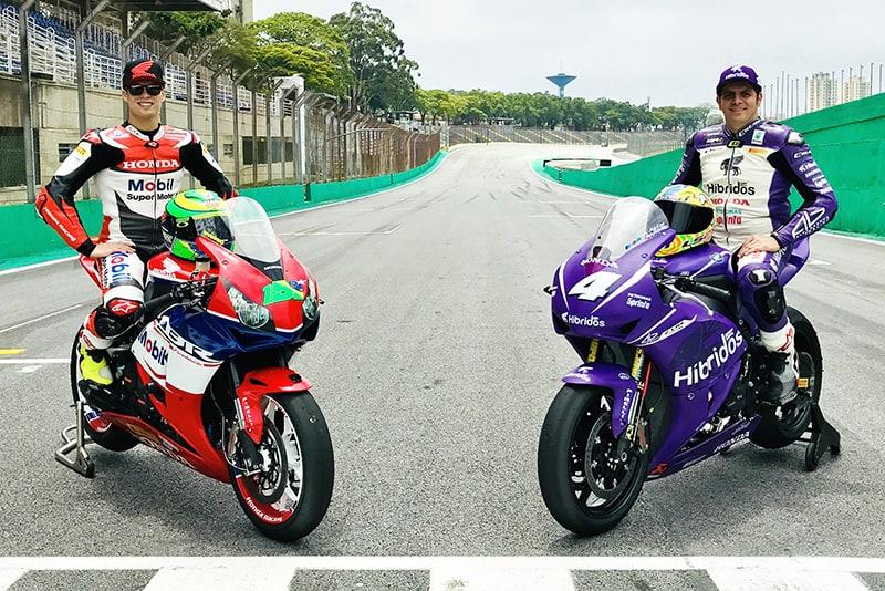 Granado, 21 anos, embalado pelo recente título de campeão Europeu de Moto2 e confirmado ao Mundial da categoria em 2018. Alex Barros, 47 anos e com 32 pódios da MotoGP na carreira. Quem leva o SuperBike Brasil em 2017?