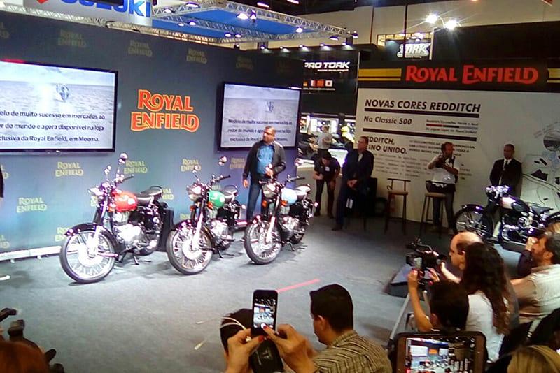 Série Redditch é o principal lançamento da Royal Enfield para 2018. Empresa confirma seu interesse em 'permanecer por muito tempo' no Brasil e destacou que este é o principal mercado para a marca fora da Índia