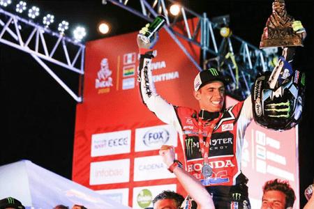 Kevin Benavides teve grande desempenho e colocou a Honda no segundo lugar no Dakar. Única marca 'não-laranja' no top 5
