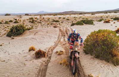 Neste momento, a KTM (ainda) não lidera o Dakar. Seu melhor piloto é Walkner, no terceiro lugar