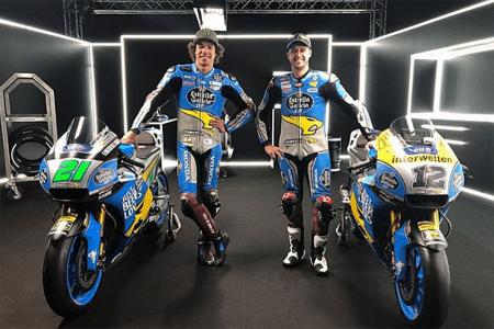 Franco Morbidelli e Thomas Luthi, campeão e vice da Moto2 em 2017, representam a Marc VDS