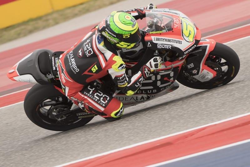 Eric Granado no Mundial de Moto2. Além de se adaptar à nova moto, precisa lidar com o altíssimo grau de competitividade