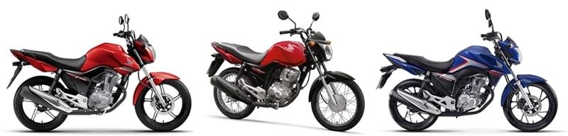 As três versões da Honda CG 160 estão envolvidas no recall: Fan, Start e Titan