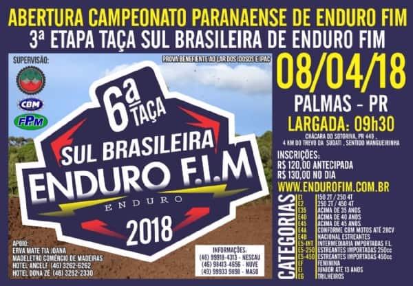 Paranaense de Enduro FIM terá disputa em 13 categorias