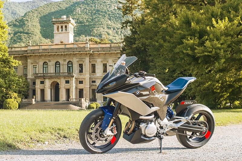 Uma moto conceito que tem no design inovador seu grande atrativo deve ser apresentada ao mundo onde? Na Itália, claro