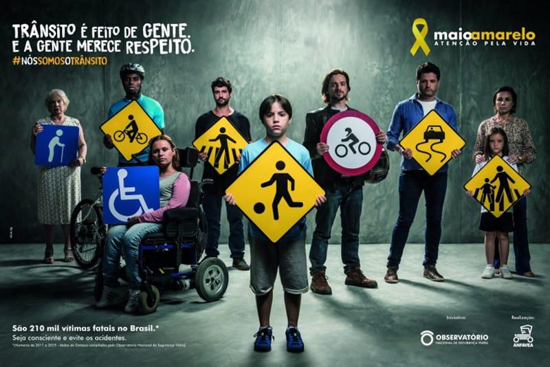 Campanha alerta para números do trânsito e pede mais atenção pela vida. Só no Brasil, estima-se que mais de 37 mil pessoas morram todos os anos em acidentes de trânsito