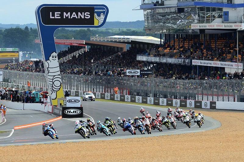 O FIM CEV Repsol correu em Le Mans, junto do Mundial de Motovelocidade. Como sempre, a Moto3 foi uma corrida equilibrada, em que até oito pilotos 'correm no mesmo segundo' - Foto: Team LaGlisse