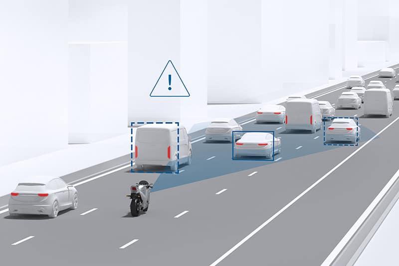 O sistema reage assim que uma situação de perigo é detectada. KTM e Ducati já confirmaram adoção de novas tecnologias até 2020
