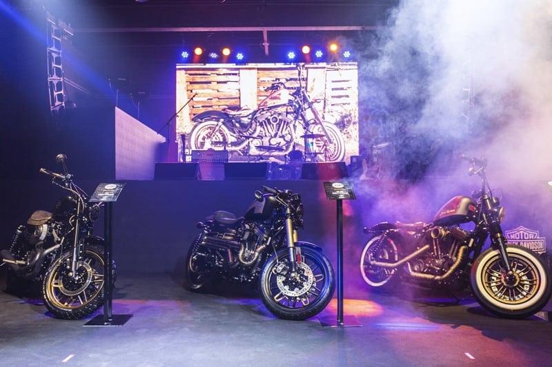 As três motos finalistas do Battle of the King Brasil: ABA (São Paulo), The One (Curitiba) e Rio Harley-Davidson